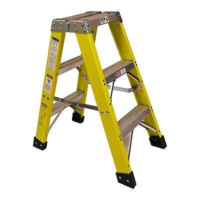Titan 3000 3 Ft. Fiberglass Double Ladder - 300lb Capacity Type 1a Ex Heavy Duty