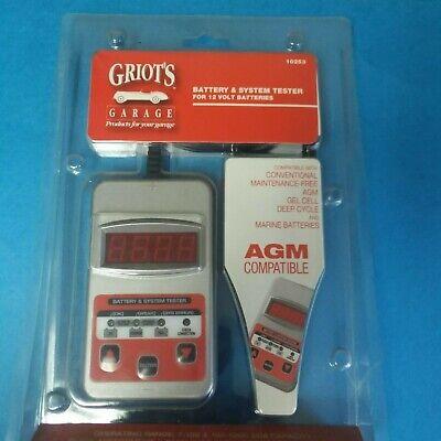 GRIOT'S GARAGE 10253 BATTERY & SYSTEM TESTER 12 V AGM COMPATIBLE