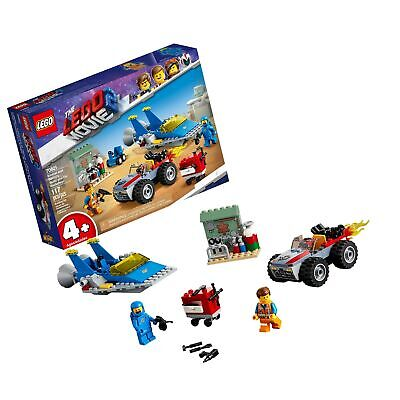 LEGO THE LEGO MOVIE 2 Emmet and Benny's 'Build and Fix' Workshop! 70821 Action Car and Spaceship Play Transportation Building Kit for Kids, New 2019 (117 Piece)