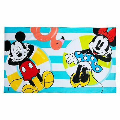 Disney Mickey Mouse and Minnie Summer Fun Beach Towel (Disney Mickey Mouse Towels)