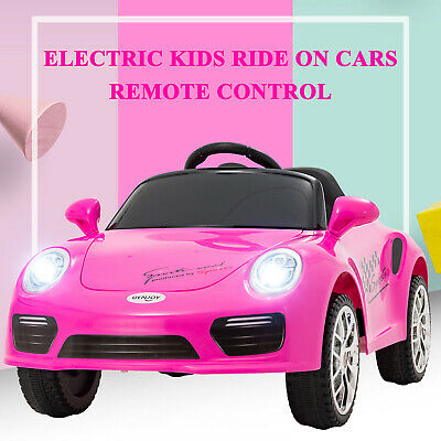 Kids Ride on Cars Electric Suspension Battery Toy w/ Remote Control Music  Pink