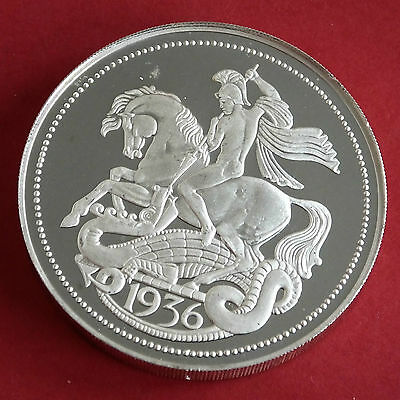 GB EDWARD VIII 1936 PIEDFORT SILVER PROOF PATTERN GEORGE & DRAGON CROWN