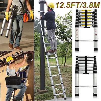12.5ft Multi Purpose Auminium Folding Telescopic En131 Extendable Ladder Steps