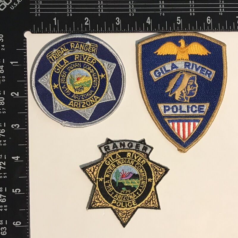 Arizona Gila River Tribal Ranger And Police Patches
