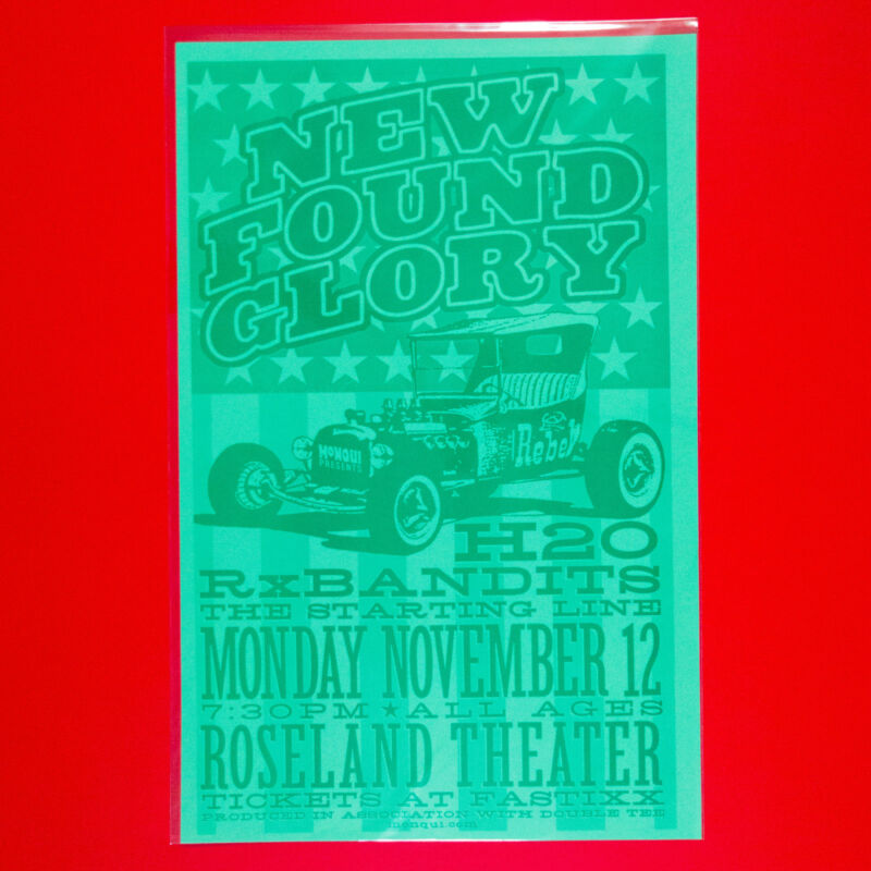 NEW FOUND GLORY 2001 Original 11x17 Tour Poster. Portland OR. Last One!