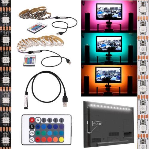5V 5050 RGB LED Strip Light Bar TV Background Lighting Kit +