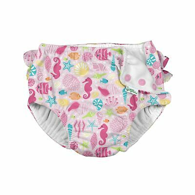 Swim Diapers Extra leakage Protection Soft Material Sealife Pattern Pink 3T Safe