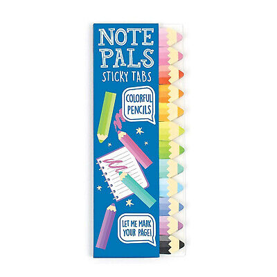 Ooly Note Pals Sticky Tabs Colorful Pencils