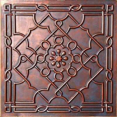 Ceiling tiles Faux tin rust copper decor Barber house wall panel PL09 10pcs/lot