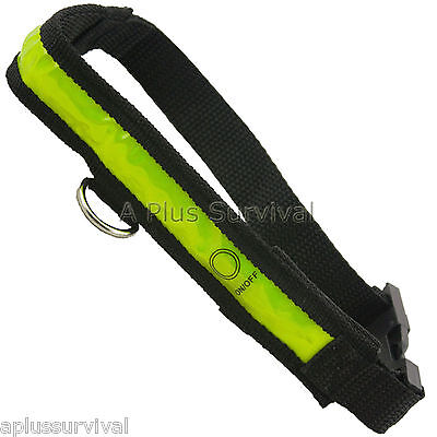 "Reflective & Illuminated Safety Dog Pet Collar Large Size 21-30"" Survival Kit"