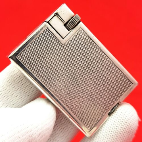 ALFRED DUNHILL - LONDON- SILVER PL. - PATENT - 1930 /1940 - LIGHTER - SWISS MADE
