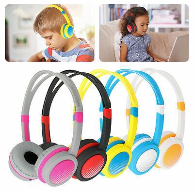 wired boy girl kids headphones safe over