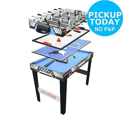 Hy-Pro 4 in 1 Pool, Table Tennis, Football, Air Hockey Family Indoor Games Table