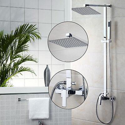 US Chrome Go bankrupt Mounted Bathroom Rainfall Shower Head Faucet Set+Hand Sprayer Set