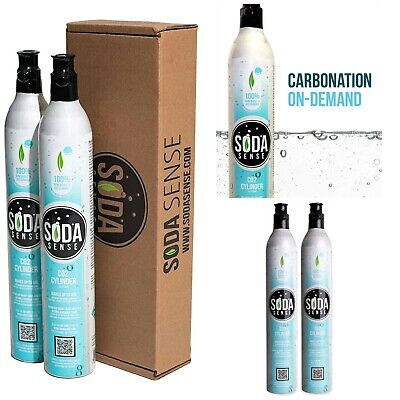Carbonator Cartridge 60L CO2 Compatible w/ Sodastream Carbonated Appliance 2pack