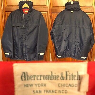 Abercrombie & Fitch Anorak Parka Jacket Hooded Men's L Vintage 1960s