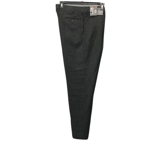Roundtree & Yorke Travel Smart Classic Fit pleated Pants 42×36 Black Clothing, Shoes & Accessories