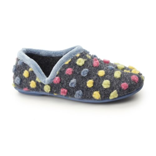 Sleepers JADE Dotted Full Slipper High Quality Light Blue//Multi Knitted Textile