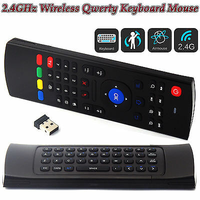 Fly Mouse Air Remote Qwerty Keyboard for Android TV Box XBMC MXQ M8s H96 PRO TX3