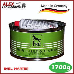 FRIZ MULTI GLASFASER Green Spachtelmasse 1.7kg inkl. Härter Auto Boot GFK