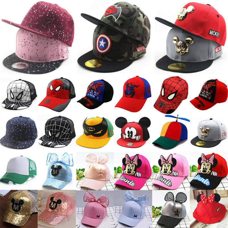 Kinder Mädchen Jungen Basecap Kappe Baseball Cap Mütze Hip-hop Hut Snapback Hat