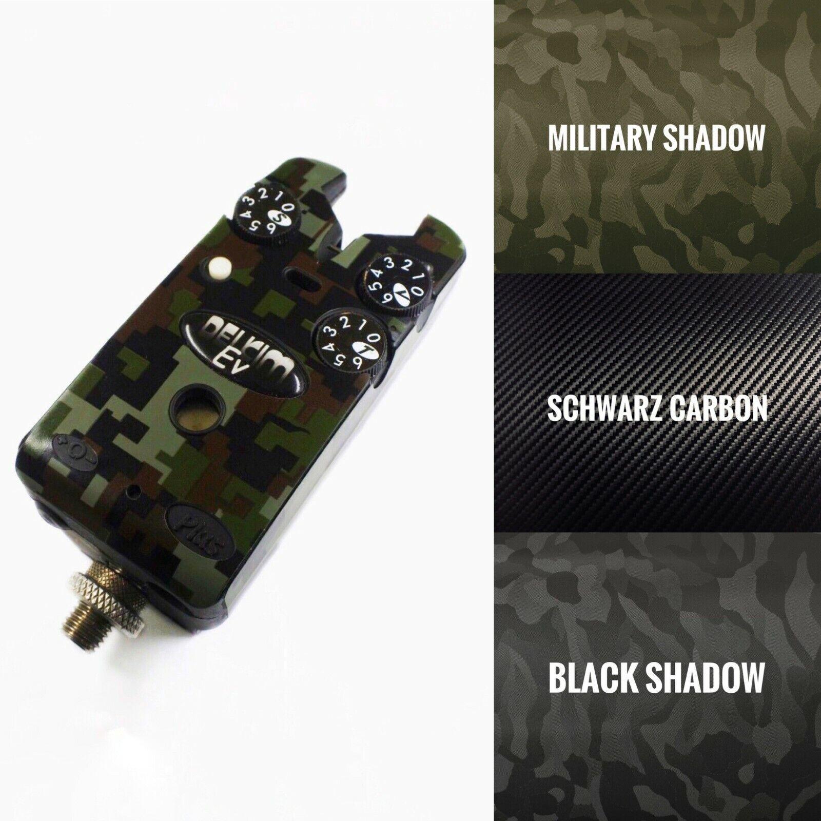 DELKIM  - Plus - Bissanzeiger - Klebefolie - Skin Camouflage Carbon