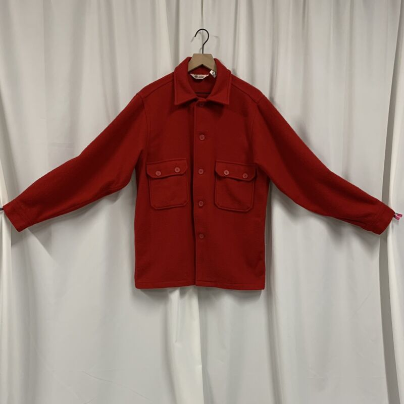 VTG Boy Scouts of America BSA Patch Red Wool Coat Official Jacket Men