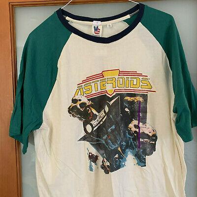 NWT Atari Asteroids baseball style white w Green sleeves T-Shirt, Size XL