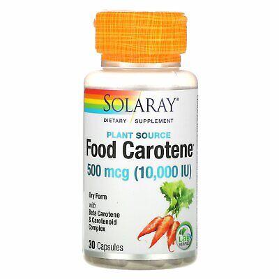 Food Carotene with Beta Carotene & Carotenoid Complex, 500 mcg (10,000 IU), 30
