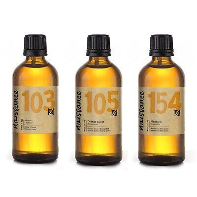 Naissance Aceite Esenciales de Limón, Naranja y Mandarina 3 x 100ml