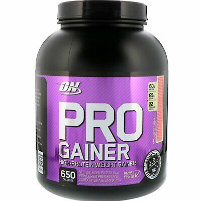 Pro Gainer, High-Protein Weight Gainer, Strawberry Cream, 5.09 lbs (2.31 kg) High Protein Gainer