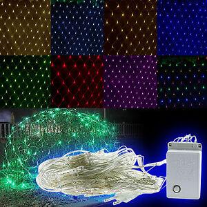 96-200-880-LED-Malla-de-Red-Lampara-Yarda-Fiesta-Boda-Hada-Navidad-Cadena-luces