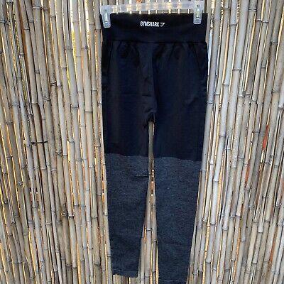 Gymshark Women's Flex High Waisted Legging Black/Charcoal, Size Small