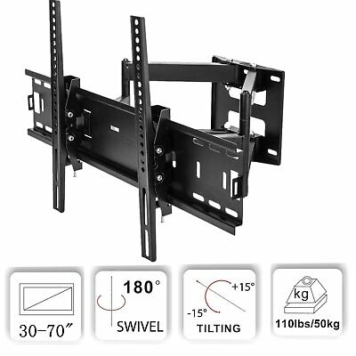 Full Motion Flat Screen TV Wall Mount Bracket 32 37 40 42 47 55 56 60 65 70 inch