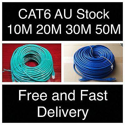 1m 2m 3m 5m 10m 15m 20m 30m 50m 100m Ethernet Network Lan Cable CAT6 1000Mbps