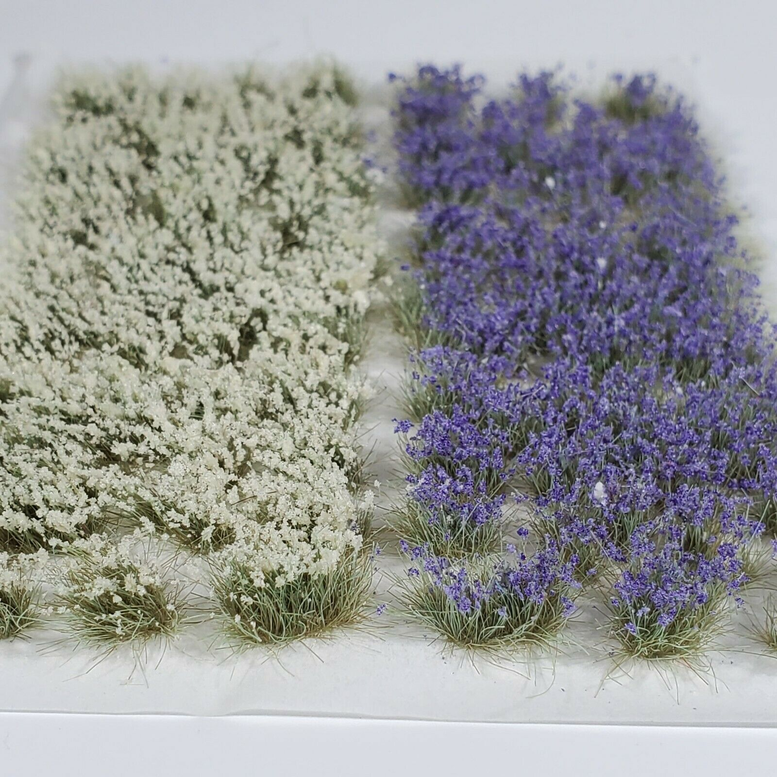 Self Adhesive Static Grass Tufts for Miniature Scenery -Violet/White Flowers-6mm