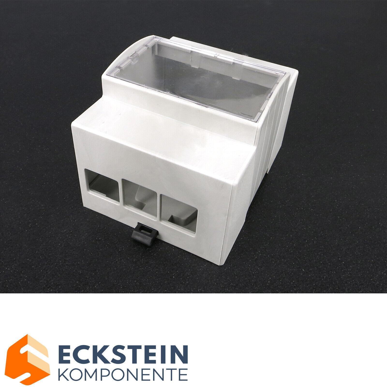 ABS Hutschienen Gehäuse mit Sichtfenster für Raspberry Pi B+/2/3  RP02023