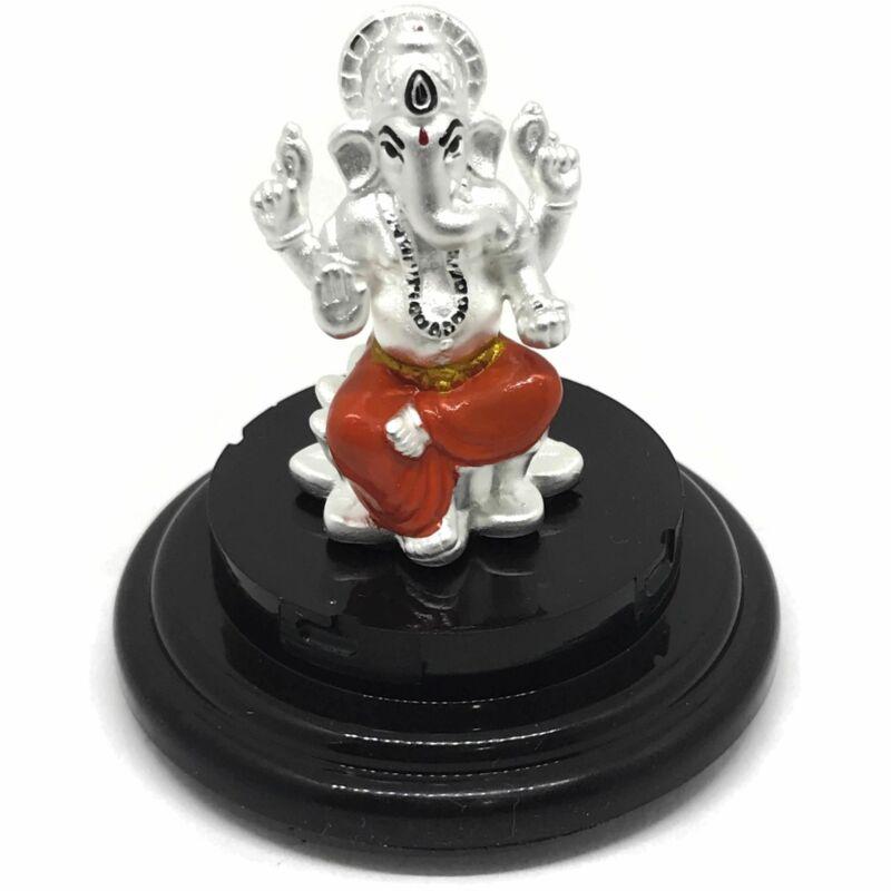 999 Pure Silver Ganesh idol / Statue / Murti (Figurine #22)
