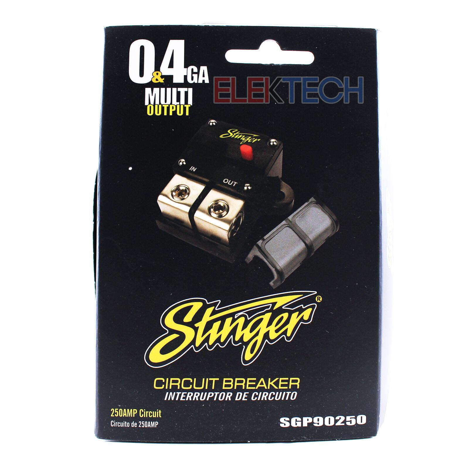 Stinger High Current 250 Amp Circuit Breaker 0 Or 4 Gauge Awg 12 Volt Breakers Of 5 Sgp90250