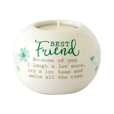 Said With Sentiments Best Friend Ceramic Tealight Candle Holder Home Gift