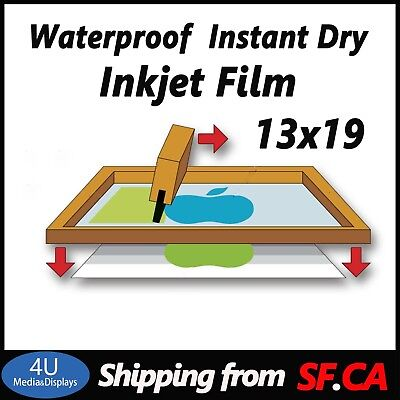 13 X 19100 Sheetspremium Waterproof Instant Dry Inkjet Transparency Film