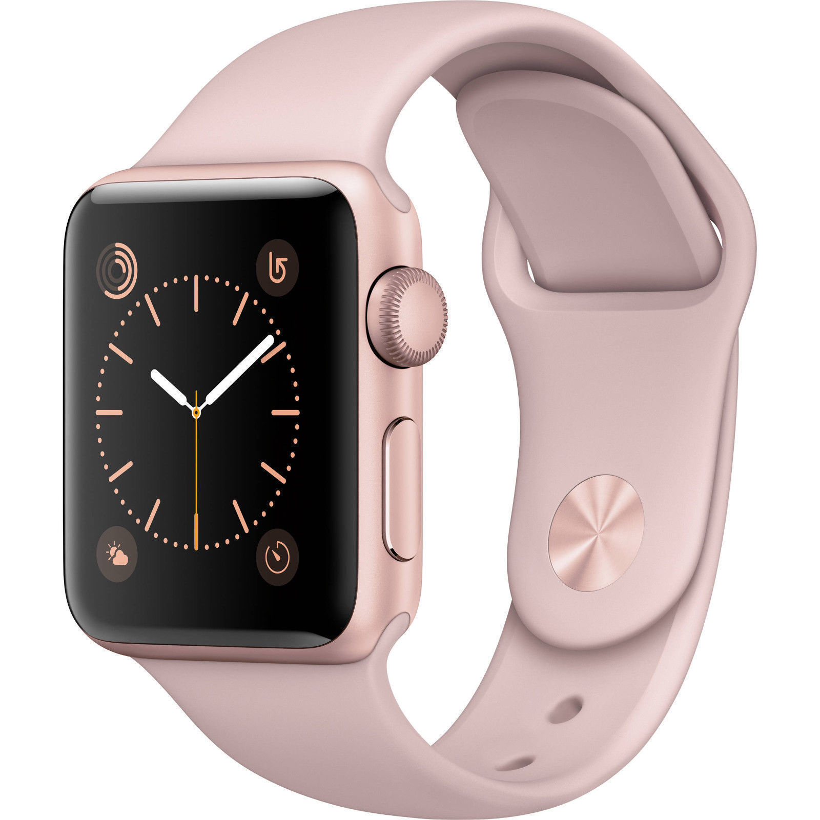 Apple Watch Series 2 38mm Rose Gold Aluminum Case Pink Sport Band MNNY2LL/A