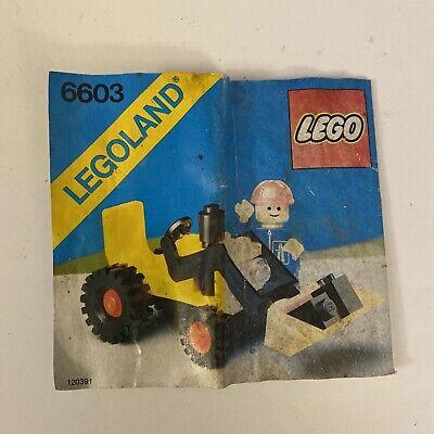 VTG Legoland City Shovel Truck Manual 6603 | See Photos