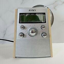 Jensen JCR 560 AM/FM Dual Alarm CD Clock Radio Working Condition
