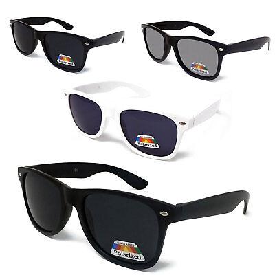 Black POLARISED Lens Sunglasses Mens Womens Mirrored UV Matte Driving POLARIZED