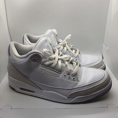 Nike Air Jordan 3 Retro Triple White Size 13