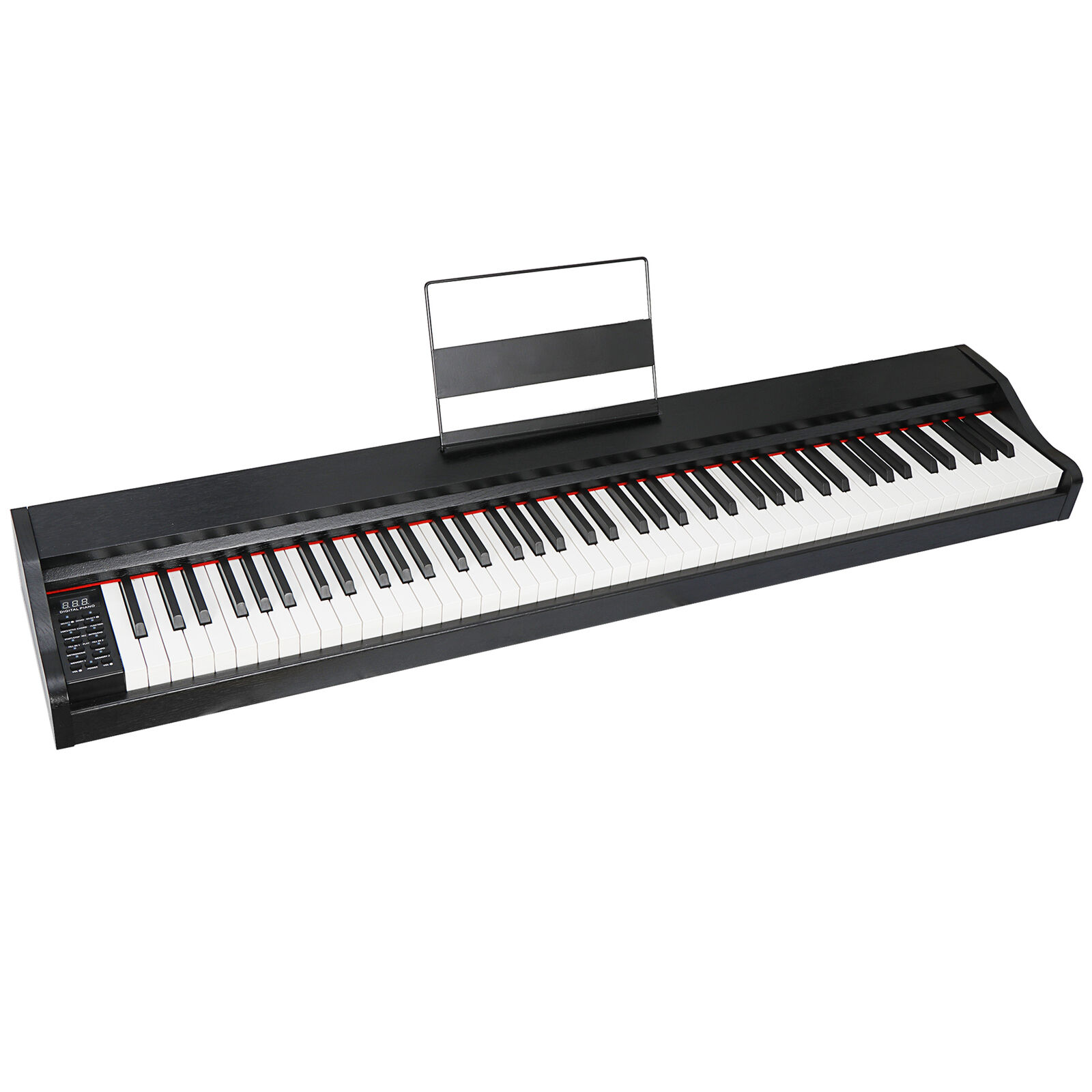 88 Key Music Electronic Keyboard Electric Digital Piano Black with Speakers Electronic Keyboards