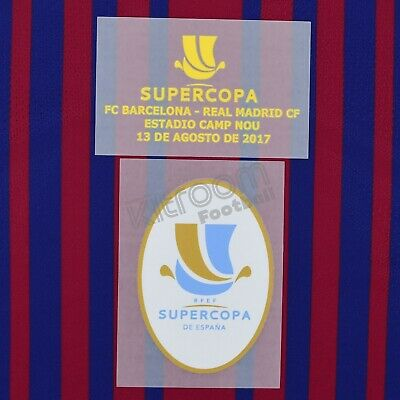 2017-18 Barcelona Supercopa 2017 vs Real Madrid (Camp Nou) Set Player Issue...
