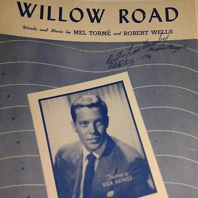 Vintage Sheet Music Willow Road 1946 Mel Torme Robert Wells
