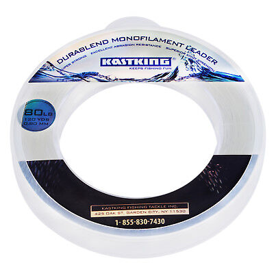 (KastKing DuraBlend Monofilament Leader Fishing Line - (120Yds-80LB) - Clear)